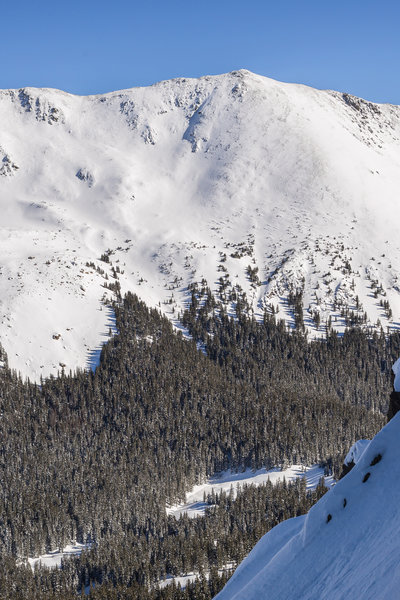 Wheeler's northwest slopes from Kachina's east side