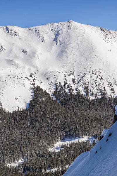 Wheeler's northwest slopes from Kachina's east side