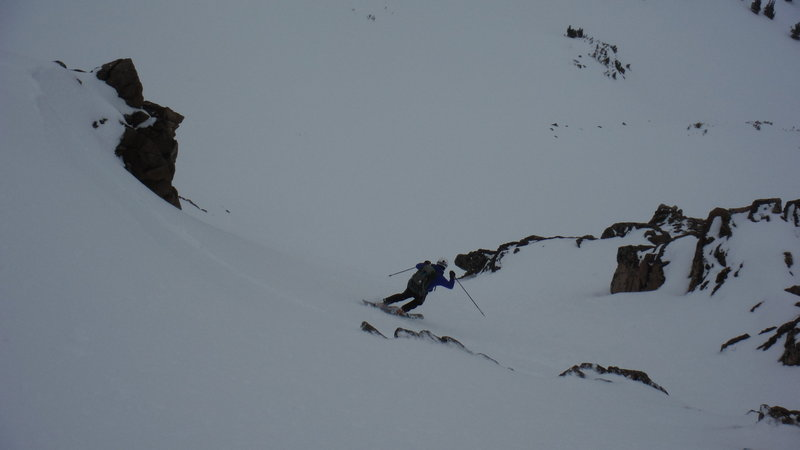 Skiers left on SE Face of Russell May 2015