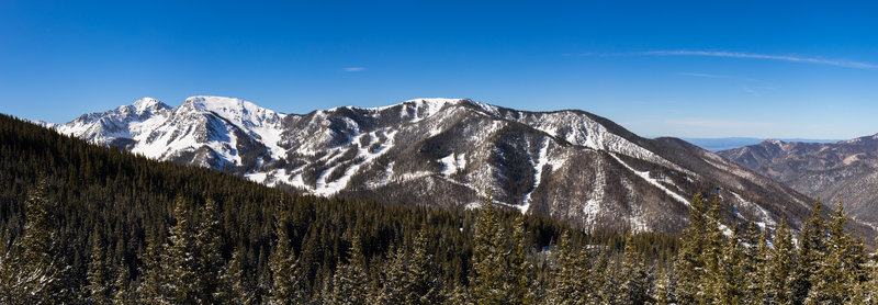 Taos Ski valley from Frazer Mountain