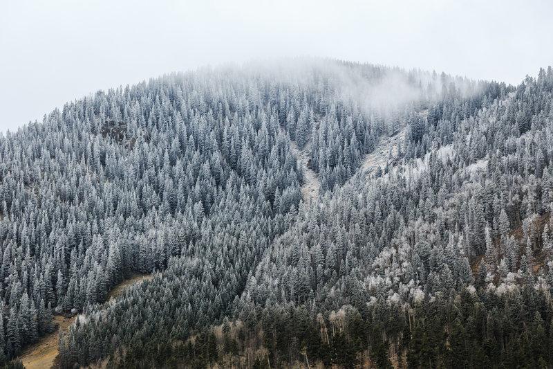 Autumn snow on Longhorn