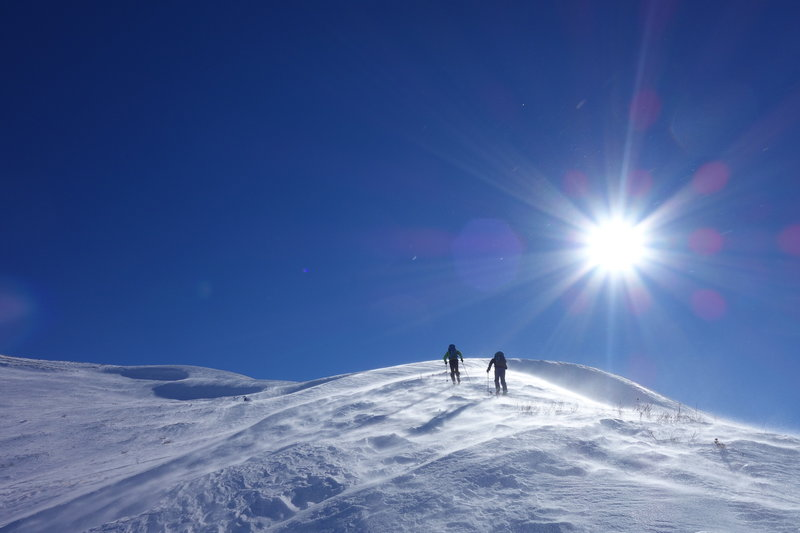 Skiers on the Mount