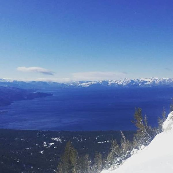 View of Lake Tahoe from Incline Peak's Summit