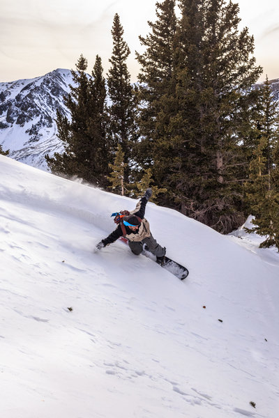 March 7, 2018 ~ thin snowpack in the Taos range