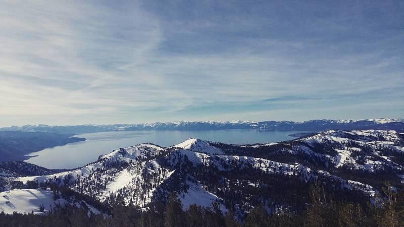Lake Tahoe from Relay Peak.