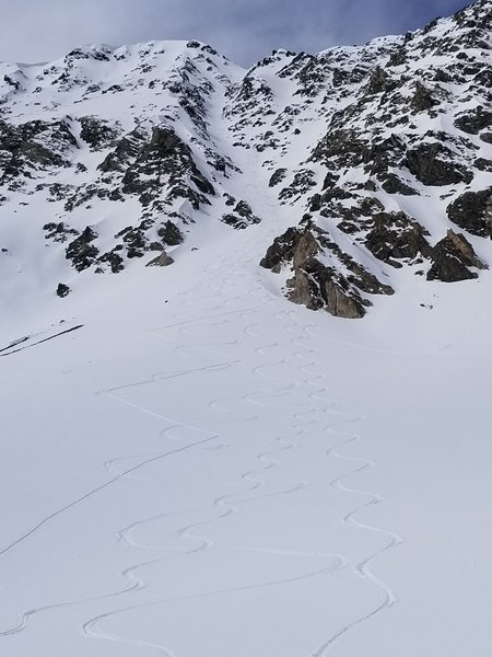 Skied Dead Dog on March 17th, 2018 from the top with Carl Pluim and John Vallequette