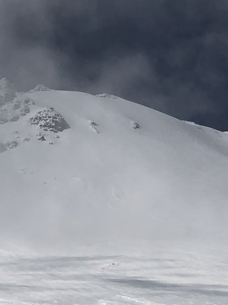 Wy'east face, looking up from the top of superbowl