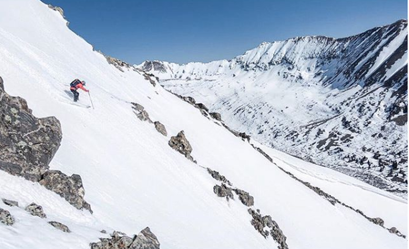 Skiing the upper portion of Jack The Ripper.