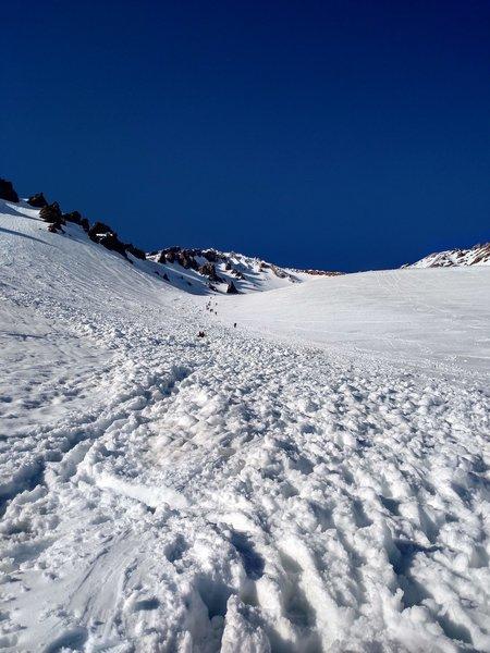 The last big climb before Helen Lake