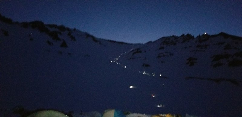 4am shot of the approach to Red Banks. Photo by C. Samuels