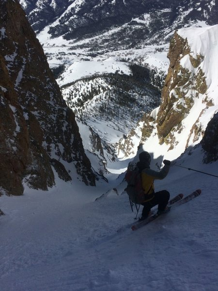 Upper portion of Lightning Bolt couloir.