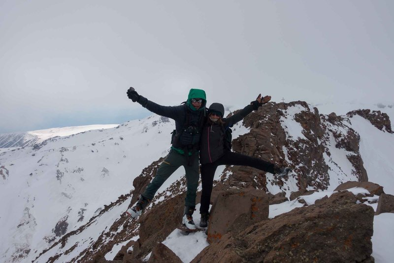 On the Summit of Aragats