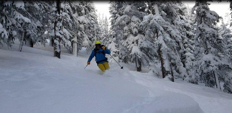 John V skiing 6.5, Dec 2 2018