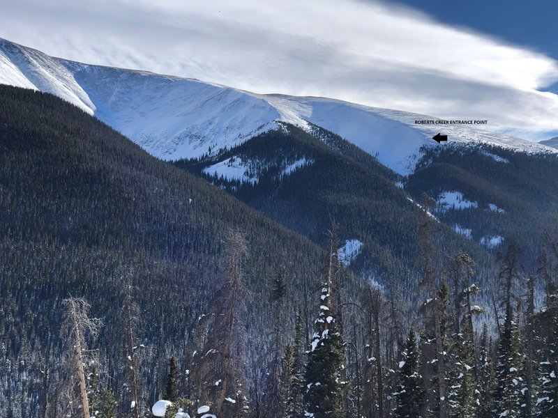 Showing the drop in point from highway 40, this picture was taken from the last switchback heading to WinterPark