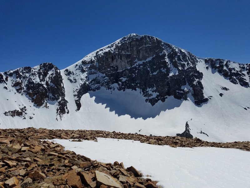 Looking at Mt Dana and the Couloir (left of peak)