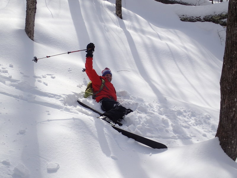 Mark Seltzer experiencing deep powder.