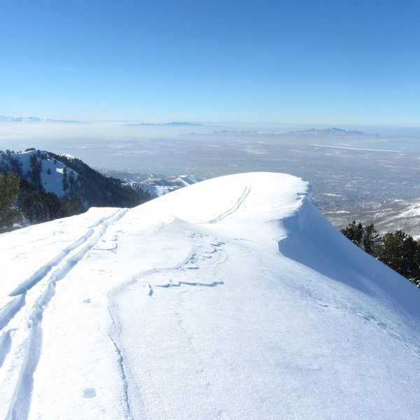 A view of the massive wind-drift atop Big-Drop 12. Big-Drop 1 seen in the background.