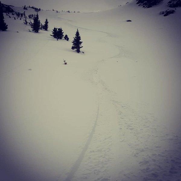 Great snow at hidden knoll 4-3-19