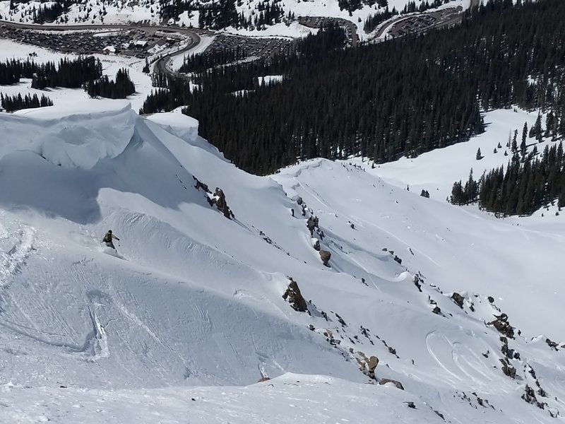 Easing under the cornice to get started on Heimes