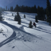 Some of the last few turns down to the road!