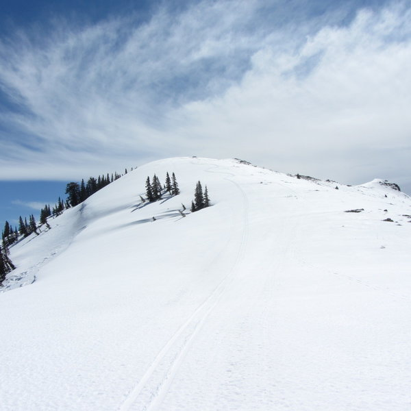 Here are some turns I made while getting off the ridge-line above Rice/Mud bowls.