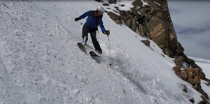 Mt Russell N Chute middle variation April 20th 2019, Berthoud Pass