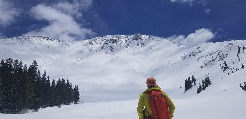 Looking up at the ski line May 11th 2019