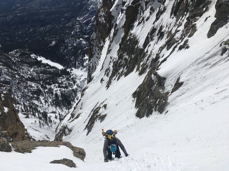 Booting up the couloir