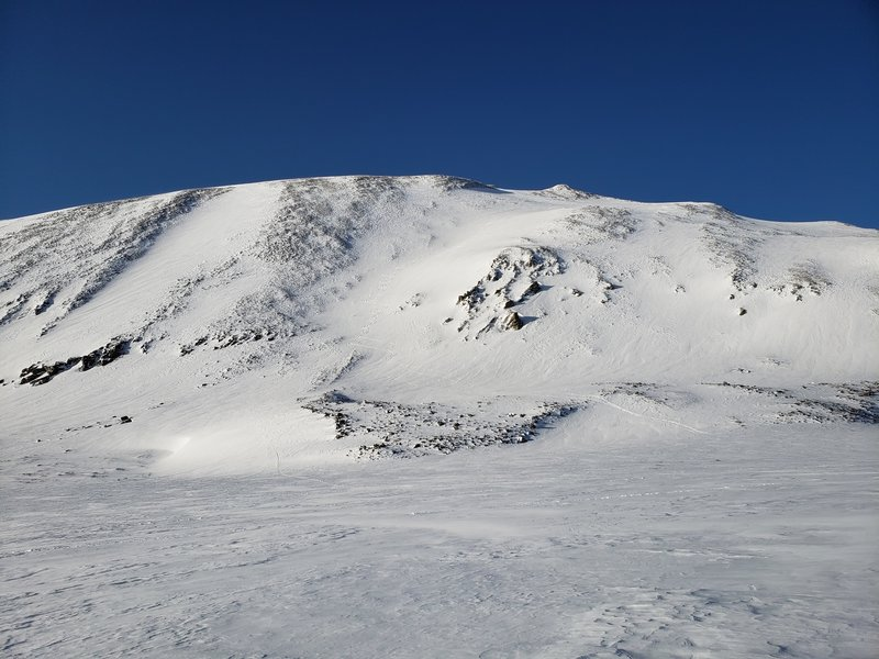 Looking back (south) at the descent from Mt Gemini.