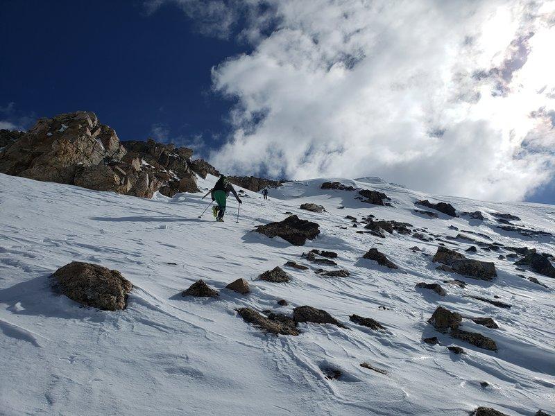 Ascending Mt Buckskin