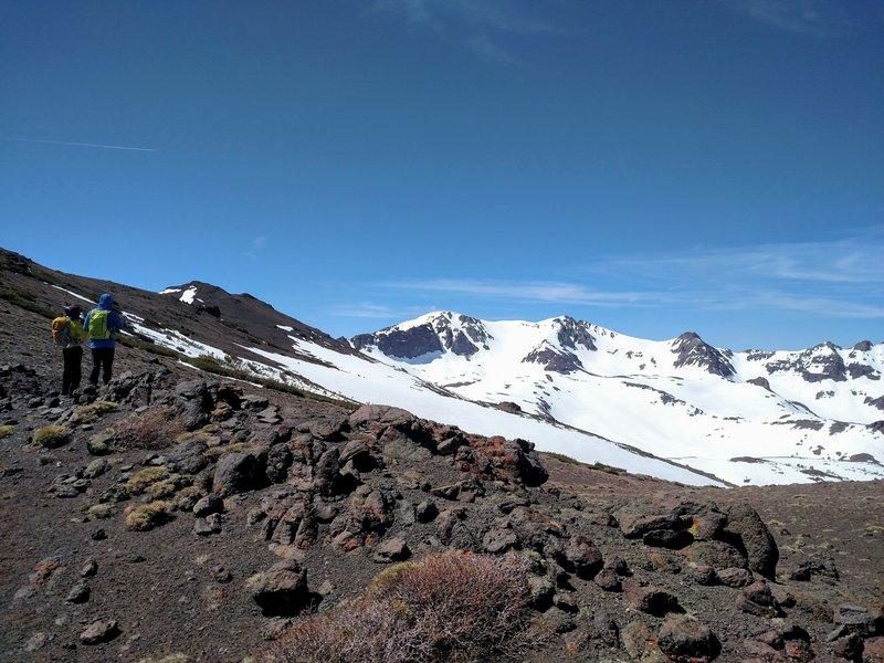 Looking at Leavitt Peak from the first ridgeline.