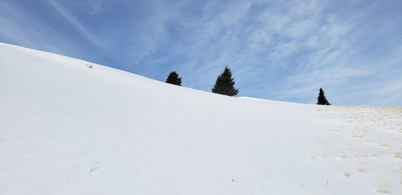 Nearing the top of the Big Drift