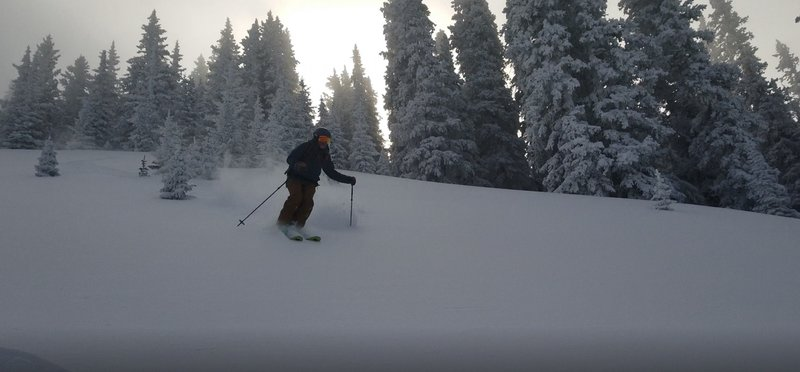 Largest open section of the 6.1 ski run