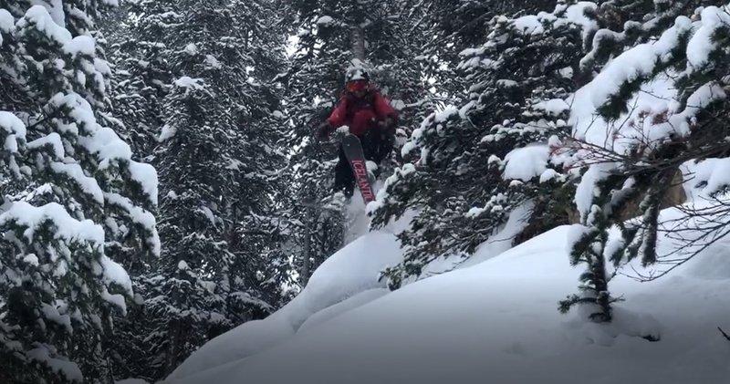 Upper 6.7 ski run. Garrett Gillest at age 13.