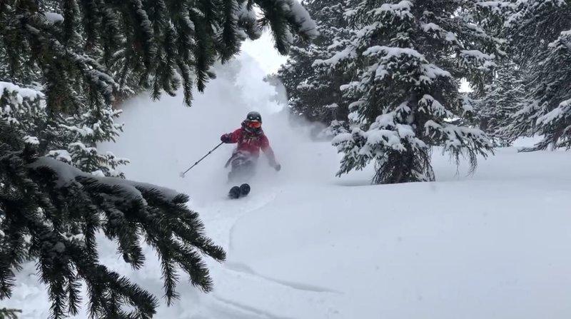 Middle section 6.7 ski run. Garrett Gillest, age 13.