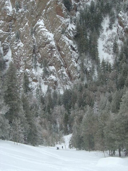 West Face of the Sandias—Skiing Bliss