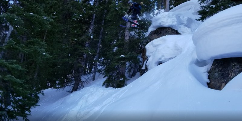 Garrett Gillest getting air, age 14