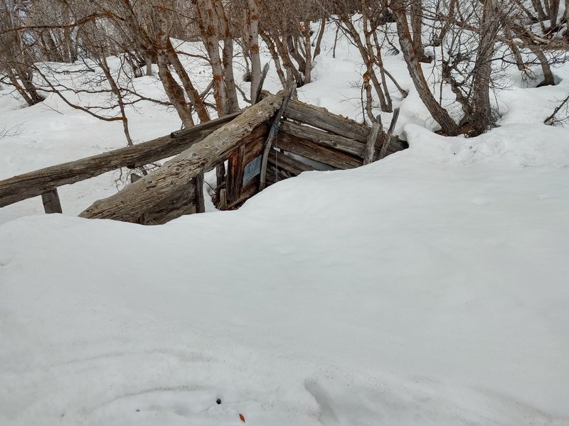 """The broken down cabin of Kenny Creek.  You'll get odd looks going down the trail with skis on your back, and everyone will be asking you if you """"reached the cabin.""""  Tell them you got lost and couldn't find it."""