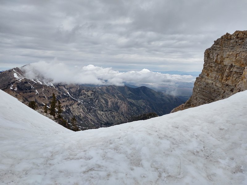 This was taken at the top of the east twin looking north.