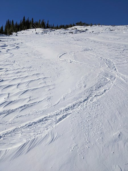 Some downhill turns near the approach.