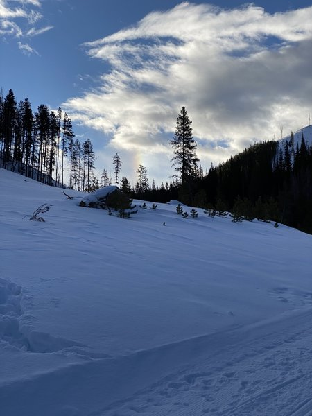 Keystone Gulch - Service Road 175 - Regularly groomed for Keystone Service vehicles.  It's about one lane wide and excellent for beginner or intermediate Nordic skiers.