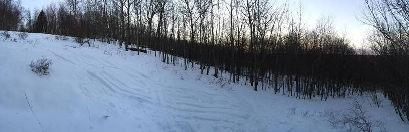 The middle section of the Star trail at Snow Bowl, Mahlon Dickerson, Jefferson Township, NJ