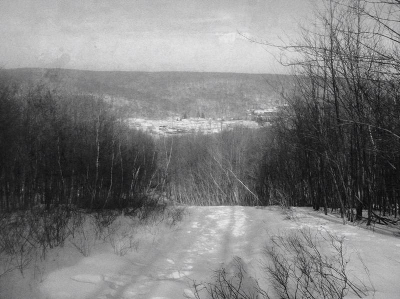 Above the Moguls Steep section of the Star Trail at Ol' Snow Bowl defunct ski area at Mahlon Dickerson Reservation, NJ