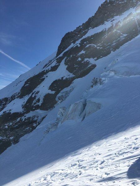 Upper Elliot Glacier ski descent, circa 9500'